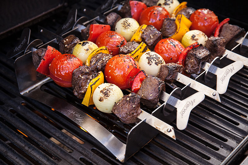 Preheat your barbecue to medium high heat and place the Roasting Rack on the grill.